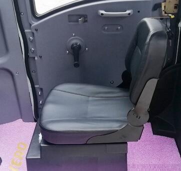 Sæde til kabinescooter