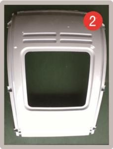Rude ramme bag til kabinescooter